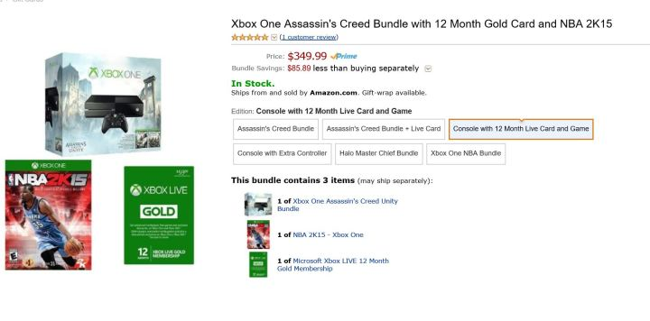 amazon xbox one bundle