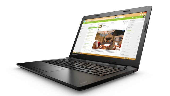 The Lenovo Ideapad 100 with 14-inch display.