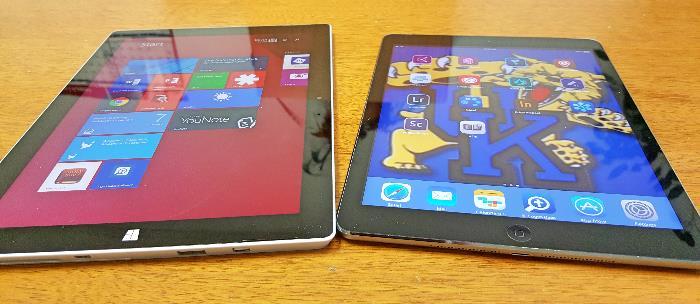 Microsoft Surface 3 with iPad Air