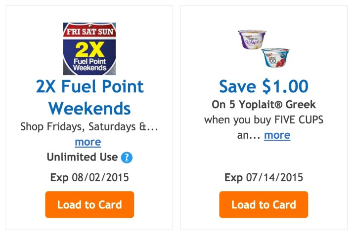 Load an offer to your Kroger Plus card.