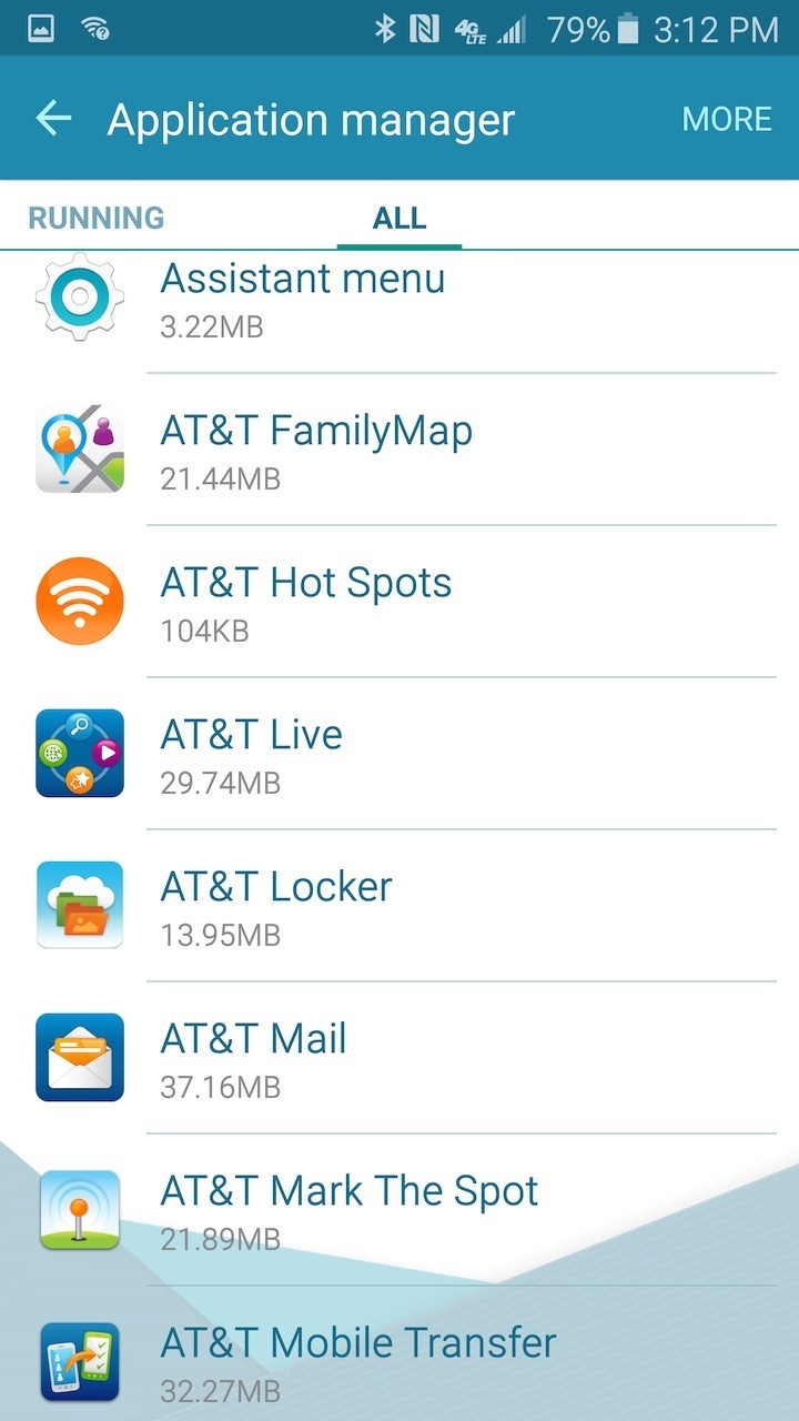 at&t live in applications
