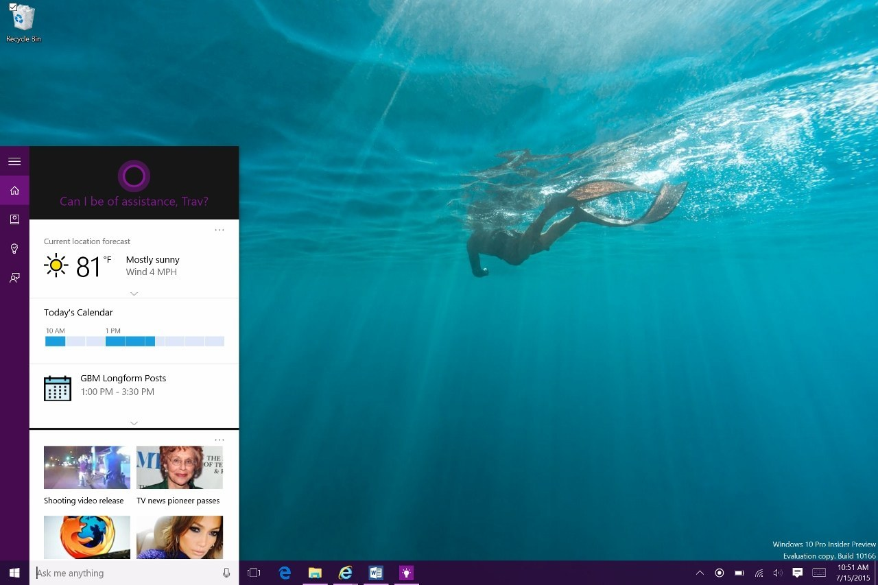 Cortana talking avatar for windows 10 with crazytalk trial