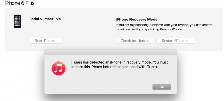 You will see this message when your iPhone is ready to downgrade from iOS 9.1 to iOS 9.