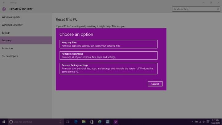How to Reset Windows 10 (8)