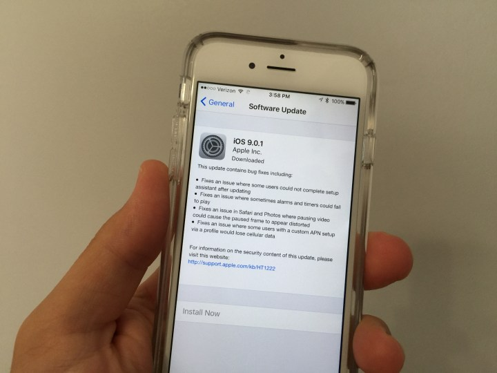 Your guide to upgrade to iOS 9.0.1.