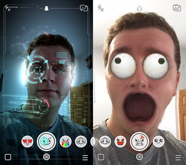 Learn how to use Snapchat Lenses and record Snaps with special effects.