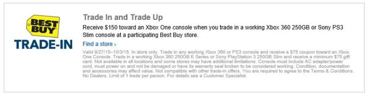 Xbox One Trade In Trade Up Best Buy Deal