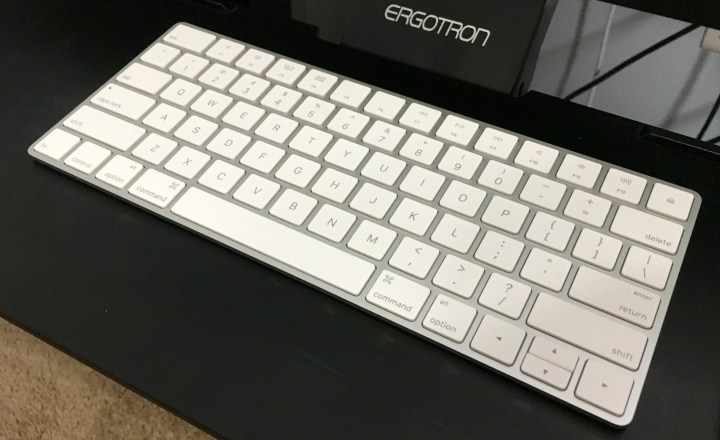 This is the new Apple Magic Keyboard.