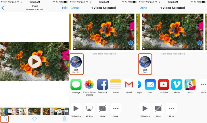 How to share iPhone 6s 4K video.