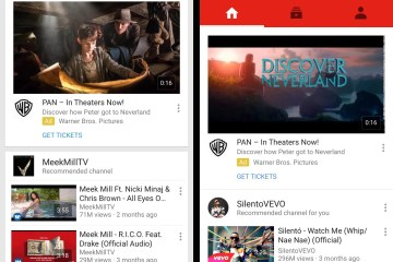 Old vs. New YouTube layout