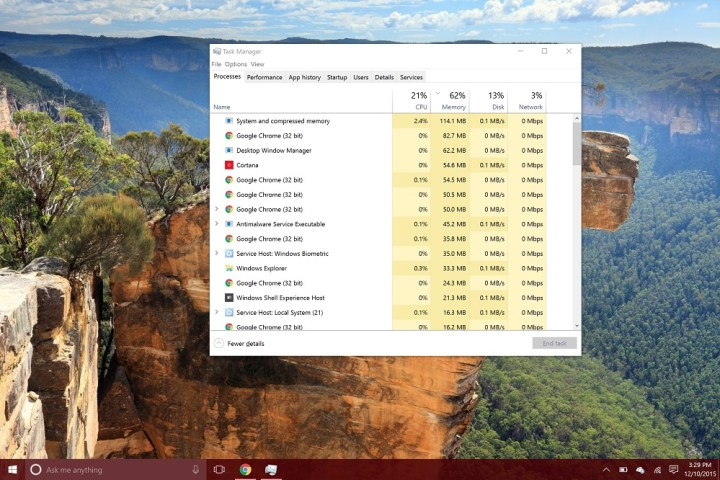 Surface Pro 4 Task Manager