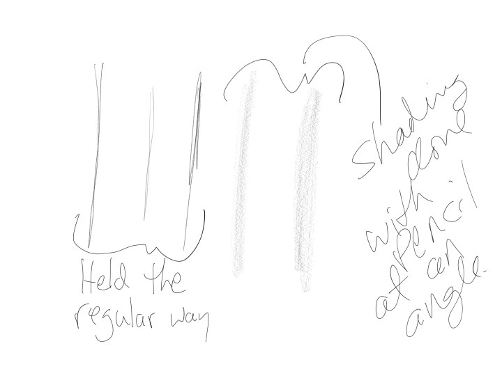 apple pencil shading in ios notes app