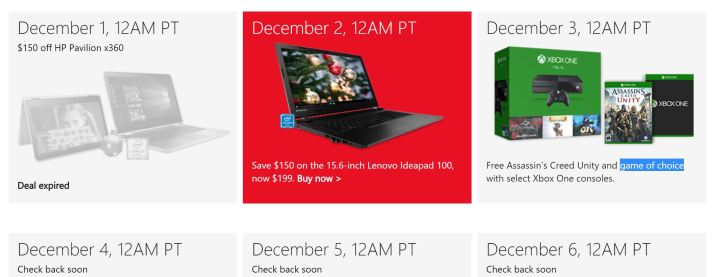 microsoft store 12 days of deals