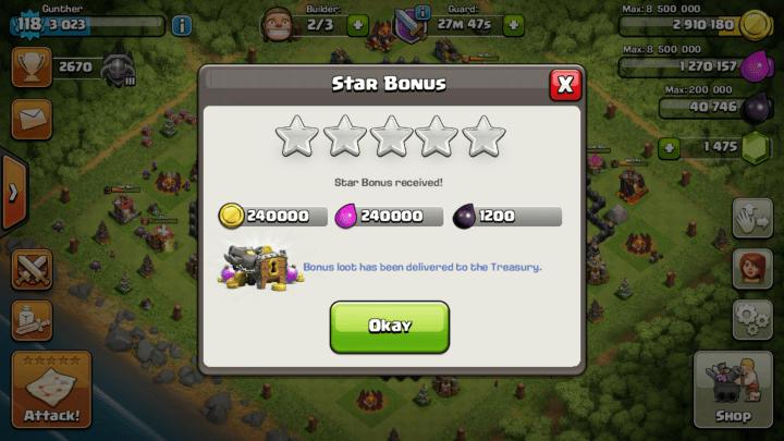 Clash-star-bonus