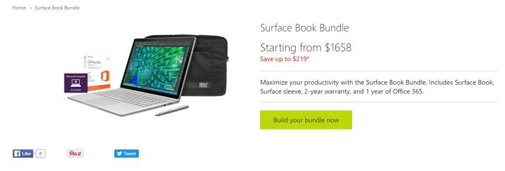 surface book bundle