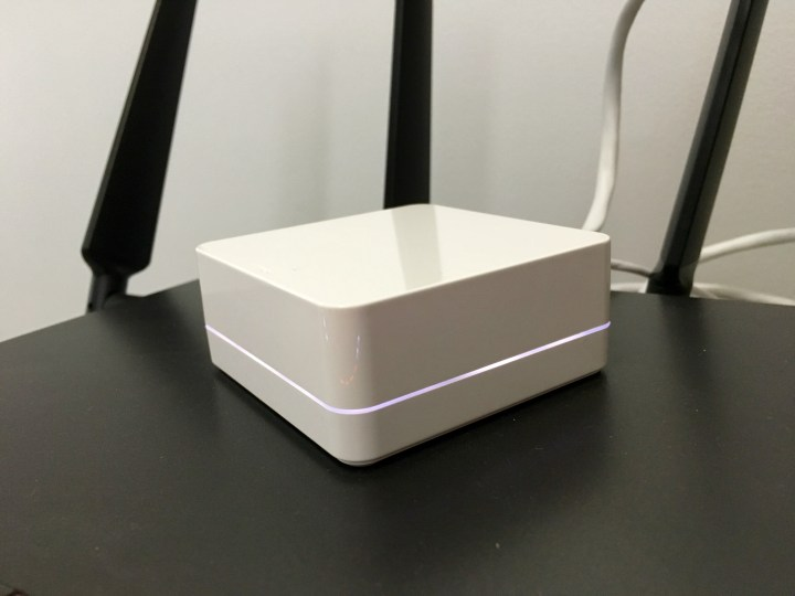 You need to plug this small control center into your router. The switches and plugs connect to it wirelessly.