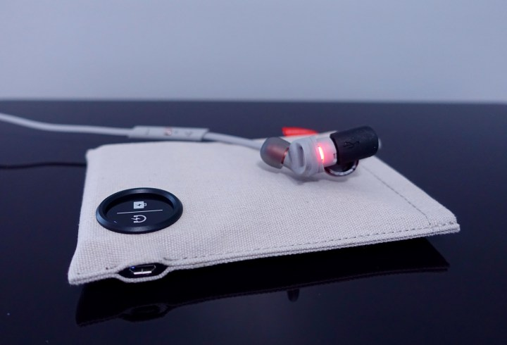 The case can charge the headphones so that you have more power on the go.