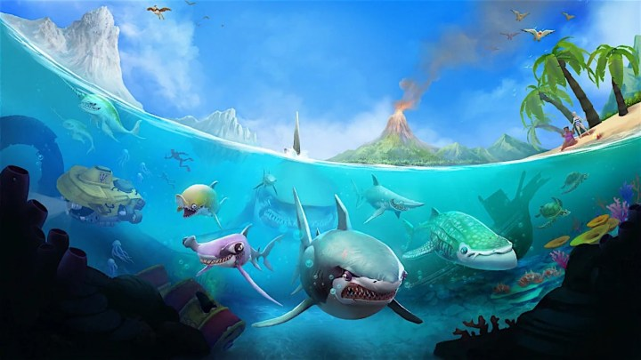 Hungry Shark World is a game with a lot of in app purchases.