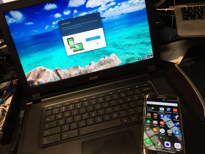 smart lock unlocks chromebook with android phone