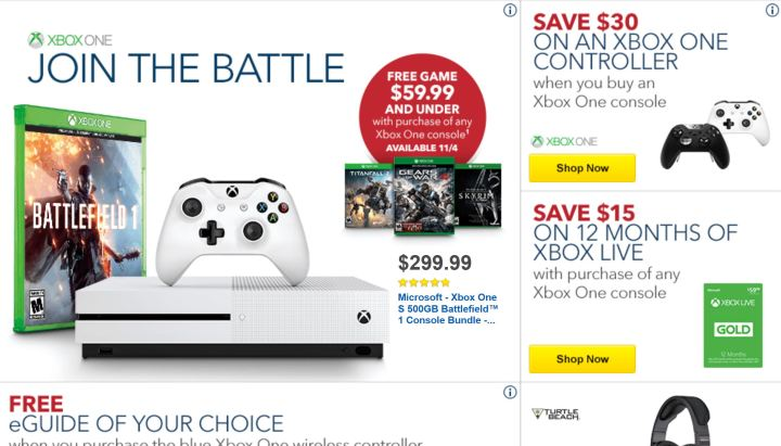 Best Xbox One Deals: $199 Xbox One & Free Games