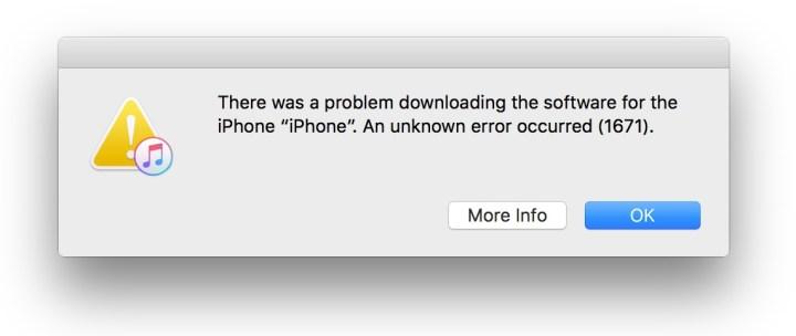 Another iPhone iOS 10 update error.