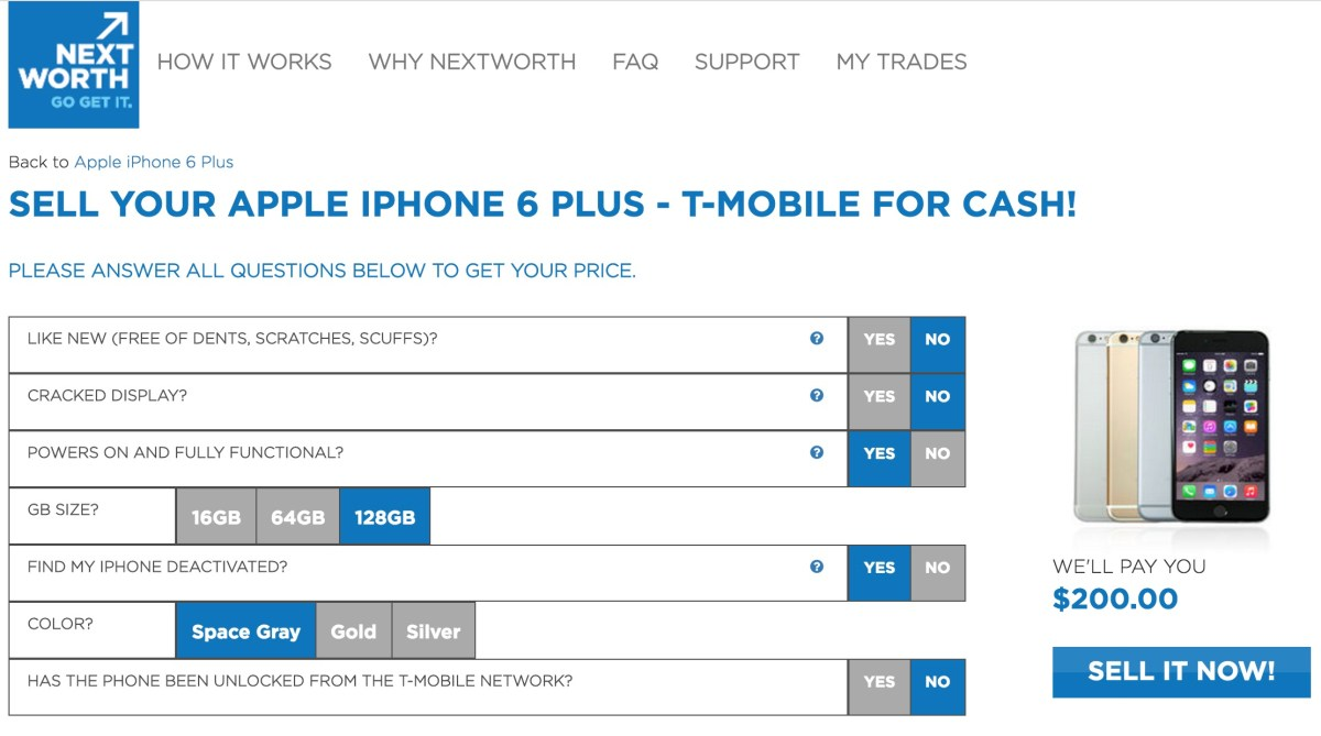 sell your old iphone on nextworth