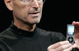 Apple CEO Steve Jobs at iPod launch last month.