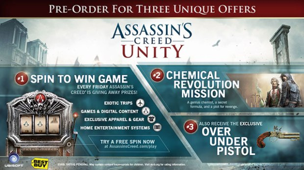 Score extra missions when you pre-order Assassin's Creed Unity.