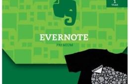 Evernote Premum and tshirt