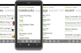 Evernote Windows PHone 7 App panorama