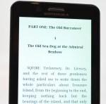 Motorola Droid Bionic reading close up