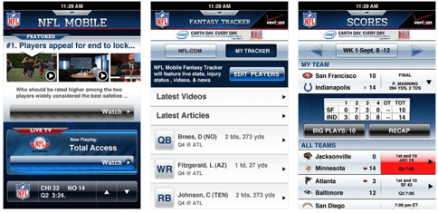 Verizon NFL Mobile app