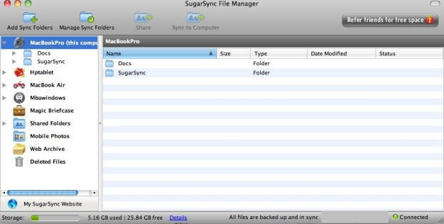 SugarSync File Manager