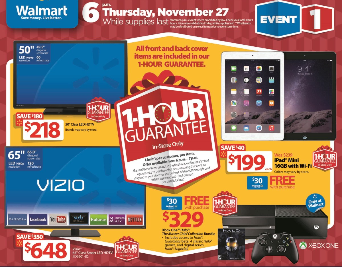 Walmart Black Friday ad features $ Apple iPad mini 2, $ Chromebook deals. The retail giant also has several other tablets and laptops on sale for as little as $