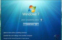 Windows 7 set up wizard