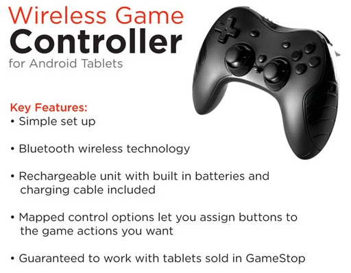 gamestop bluetooth Android tablet game controller