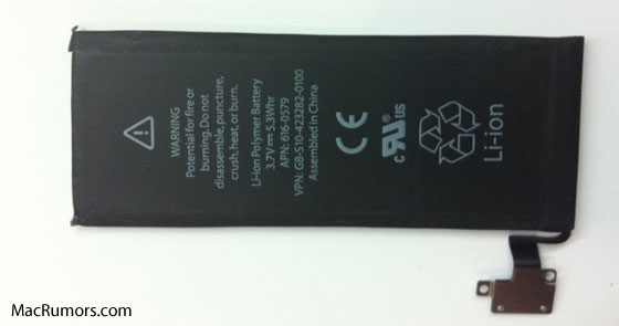 iPhone 5 battery