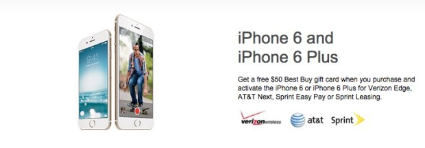 Best Buy iPhone 6 Plus and iPhone 6 deals for February 2015.