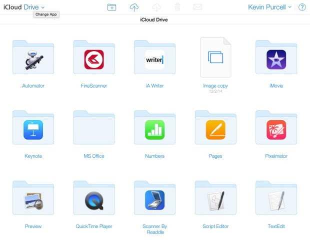 icloud drive in a web browser