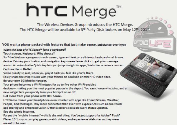 HTC Merge Launch Date?