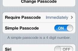 Siri Passcode Lock Settings