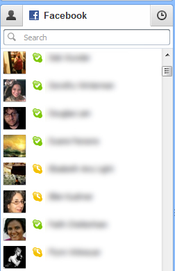 Skype 5.5 Facebook Contacts List