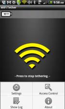 Wi-Fi Tether app