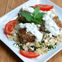 Greek Turkey Meatballs with Easy Tzatziki