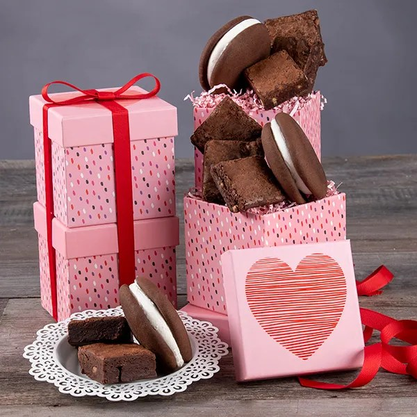 Valentine\u0027s Day Gift Tower by GourmetGiftBaskets