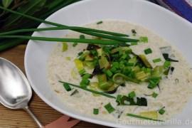 Weiße Kamut-Suppe mit Lauch |GourmetGuerilla.de