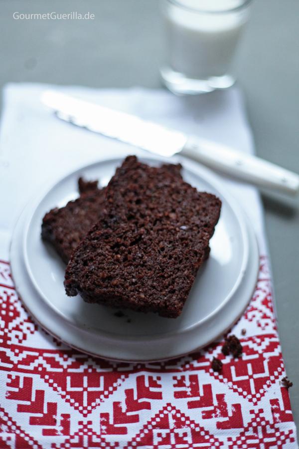 Paleo Schokoladen-Zucchini-Kuchen #rezept #gourmetguerilla #getreidefrei #paleo