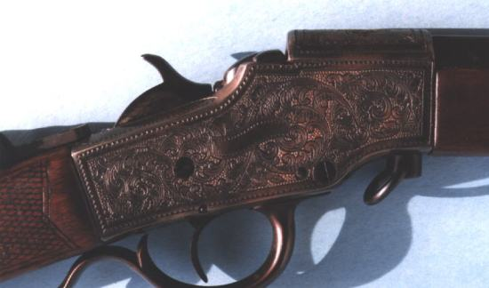 Engraved Hopkins & Allen Falling Block Schuetzen Rifle