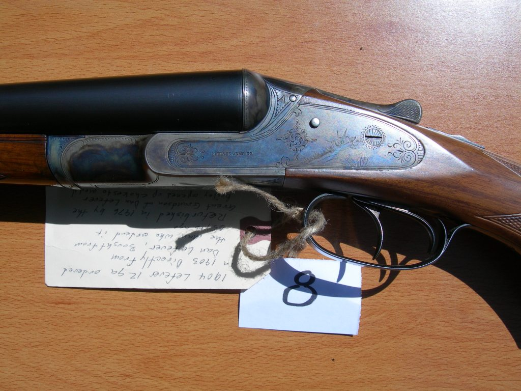 Refurbished Le Fever SXS shotgun with timed ejectors.