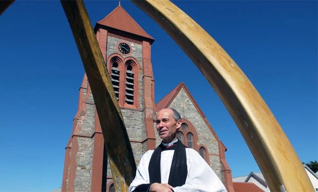 The Reverend Richard Hines is the subject for the latest series of 'An Island Parish'. Photo BBC.
